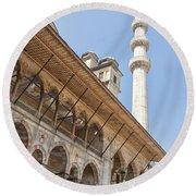 Yeni Cammii Mosque 11 Round Beach Towel
