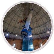 Yerkes Observatory Telescope Round Beach Towel