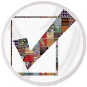 Yes Positive Symbol Showcasing Navinjoshi Gallery Art Icons Buy Faa Products Or Download For Self Pr Round Beach Towel