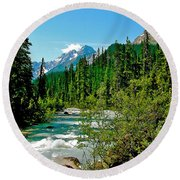 Yoho River In Yoho Np-bc Round Beach Towel