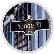 Yonge Street Round Beach Towel