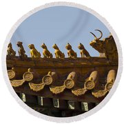 Yonghegong Lama Temple 9482 Round Beach Towel