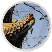 Yonghegong Temple 9108 Round Beach Towel