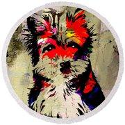 Yorkshire Terrier  Round Beach Towel