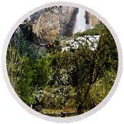 Yosemite Apple Orchard  Round Beach Towel