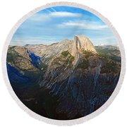 Yosemite Glacier Point Panorama Round Beach Towel