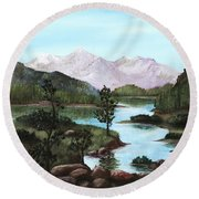 Yosemite Meadow Round Beach Towel