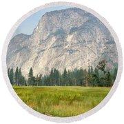 Yosemite Meadow Round Beach Towel