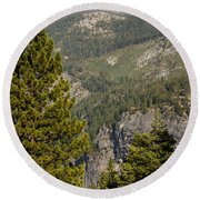 Yosemite Mountain High Round Beach Towel