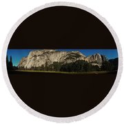 Yosemite Panorama Round Beach Towel