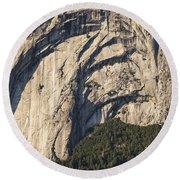 Yosemite Rock Detail Round Beach Towel