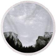 Serenity Of Yosemite Round Beach Towel