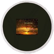 You Are Loved Round Beach Towel
