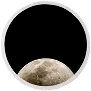 You Are Missing The Moonrise Again You Fool Just The Photo Round Beach Towel