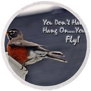 You Can Fly Round Beach Towel