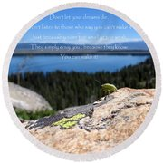 You Can Make It. Inspiration Point Round Beach Towel