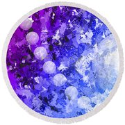 You Know Me 3 Round Beach Towel by Angelina Vick