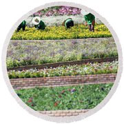 You Reap What You Sow Round Beach Towel