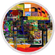 You Saw No Picture 5 Round Beach Towel