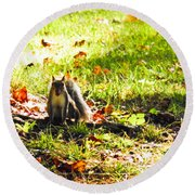 You Talking To Me? Round Beach Towel