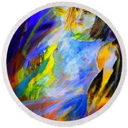 Young Girl 5751202 Round Beach Towel
