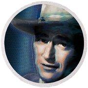 Young John Wayne Pop 2 Round Beach Towel