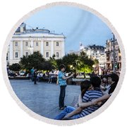 Young Lovers And Other Strangers - Moscow- Russia Round Beach Towel