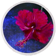 Young Passion... Round Beach Towel