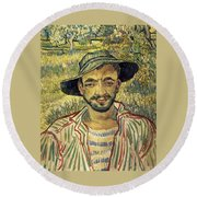 Young Peasant Round Beach Towel