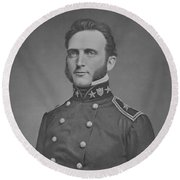 Young Stonewall Jackson  Round Beach Towel