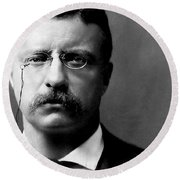 Young Theodore Roosevelt Round Beach Towel