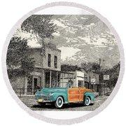 1946 Ford Sports Man Convertible  In Hillsboro N M  Round Beach Towel
