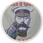 Your Country Needs You Round Beach Towel