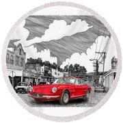 Your Ferrari In Tularosa N M  Round Beach Towel