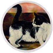 Your Pets Commission Me To Paint Round Beach Towel