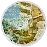 Your Tiny Little Seed Round Beach Towel