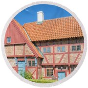 Ystad Old Mayors House Round Beach Towel