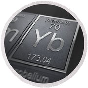 Ytterbium Chemical Element Round Beach Towel