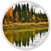Yukon Autumn Round Beach Towel