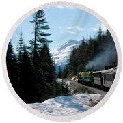 Yukon Railroad Round Beach Towel