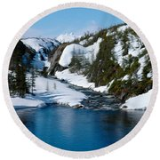 Yukon View Round Beach Towel