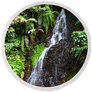 Yungas Waterfall Round Beach Towel