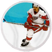 Yzerman Stick Round Beach Towel