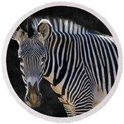 Z Is For Zebra Round Beach Towel