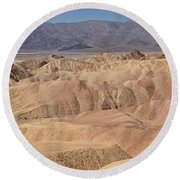 Zabriskie Point Panorama Round Beach Towel