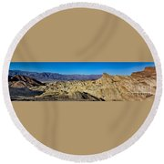 Zabriskie Point Panoramic Round Beach Towel