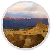 Zabriskie Point Sunrise Death Valley Round Beach Towel
