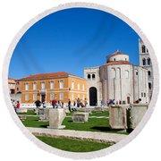 Zadar Historic Architecture Round Beach Towel