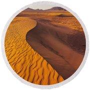 Zagora Desert In Morocco Round Beach Towel