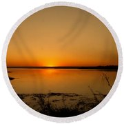 Zambian Sunrise Round Beach Towel